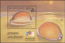 Solomon Islands 2002 Golden Cowrie/Sea Shells/Marine/StampEx 1v m/s (n12892)