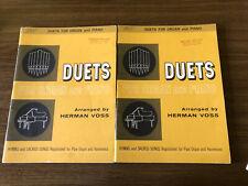 Lot Of 2 Organ Piano Duet Books Sheet Music Religious Devotional Gospel 1962