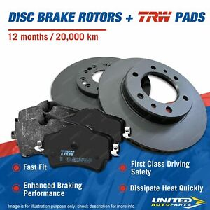 Front Disc Brake Rotors TRW Pads for Citroen BX Peugeot 306 405 Mi16