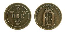pcc1953_8) SVEZIA SWEDEN SVERIGE  -  2 ore 1897
