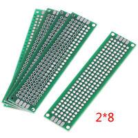 5X Double Side 2x8cm Prototype PCB Universal Printed Circuit Board Copper Pla`UK