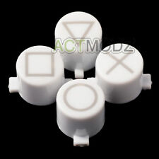 Solid White Marked Action Buttons Repair for Dualshock 4 PS4 Controller