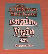 NEW Beer pump badge clip CHESHIRE BREWHOUSE brewery ENGINE VEIN cask ale UNUSED