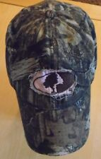 Unisex Mossy Oak Outdoor Cap Adj fit Distressed Camouflage Hat w Pink Accents
