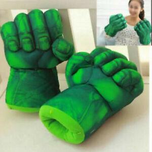Cosplay Toy Superhero Hulk Smash Hands Gloves Plush Punching Boxing Fists Toy