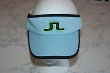New Men'S J Lindeberg Golf Visor Jl Raised Stitched Logo Flexi Twill Cap Blue