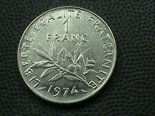 FRANCE  1 Franc  1974   COMBINED SHIPPING   .10 Cents USA   .29 INTERNATIONAL