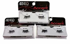 3 Pairs Of Ardell Accent 318 Petite Half Eyelashes Human Hair Corner Eye Lashes