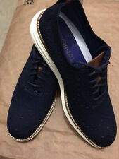 Authentic Men's Cole Haan OG GRD STCHLT WING OX Casual Shoes NAVY Size 7