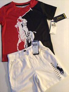 Polo Ralph Lauren Boy's 3T Outfit Shorts & T-Shirt Big Pony Performance Mesh