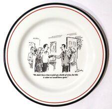 Set of 5 New Yorker Wine Cartoon Restoration Hardware Exclusive Appetizer Plates