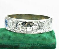 Vintage Sterling Silver Bracelet Hand Engraved Art Nouveau Art Deco Gift #W646