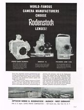 1958 Rodenstock Camera Lenses Linhof Arriflex Polaroid Vtg Print Ad