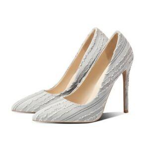 Women's High Heel 48/49/50 Stilettos Slip on Pointy Toe Wedding Cocktail Shoes