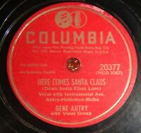 Gene Autry - Here Comes Santa Claus / An Old Fashioned Tree EE- / E- A4