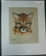 Maria Ryan Wild Treasure Cheetah Cub Le 113/850 Signed. 15x12 Unframed, Unmatted