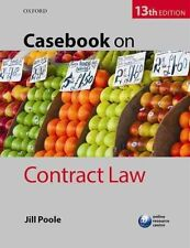 Casebook on Contract Law by Jill Poole (Paperback, 2016)