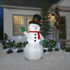 Home Holiday INFLATABLE AIRBLOWN SNOWMAN 7' TALL OUTDOOR LED Light Up Yard Décor