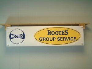Rootes Group BANNER Classic Car Workshop Garage Display Sunbeam Hillman Singer