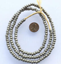Vintage matte grey African glass beads