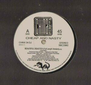 "CHEAP AND NASTY BEAUTIFUL DISASTER CHINX34DJ EX 12"" SINGLE 1991"