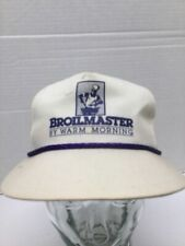 Vtg 90s Broilmaster By Warm Morning Grilling Hat Chef