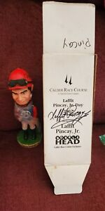 LAFFIT PINCAY SIGNED 2X BOBBLEHEAD IN BOX - HALL OF FAME JOCKEY - OLD FRIENDS