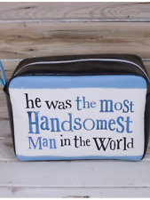 Bright side Handsome man in the world wash bag , men s gift novelty  toiletries dc85654024