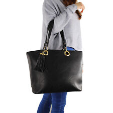 Borsa Donna Grande Nera Tracolla Comoda Elegante Rigida Moda Bag Shopper Manici