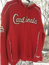Stitches St Louis Cardinal s hoodie jacket sherpa lined Thermal material