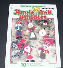 PLASTIC CANVAS PATTERN LEAFLET BOOK 1996 JINGLE BELL BUDDIES 181029