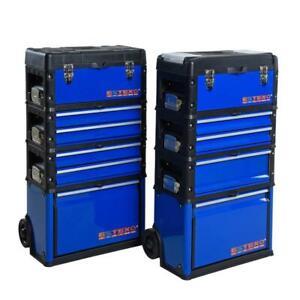 Premium Werkzeugkoffer Werkzeugtrolley Wagen Organizer aus Metall Werkzeugbox