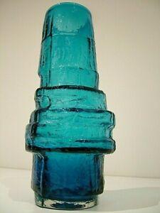WHITEFRIARS KINGFISHER BLUE HOOP VASE GEOFFREY BAXTER MID CENTURY DESIGN 667