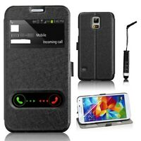 For Samsung Galaxy S5 Flip Wallet Leather Case Cover Stand