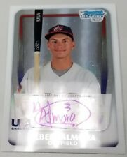 2011 11 ALBERT ALMORA CUBS BOWMAN CHROME USA REFRACTOR ROOKIE RC AUTO # / 417