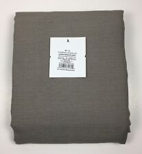 Window Curtain Panel One Farrah Threshold Gray Rod Pocket 54 x 84 Inches