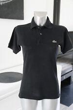 joli polo noir à manches courtes LACOSTE taille 2 (S)   EXCELLENT ÉTAT genuine