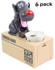 6 PK Choken-Bako Coin Bank Saving Box Puppy Hungry Robotic Dog Money Collection