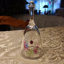 "Vintage ♡ 24% Full Lead Crystal Floral Bell ♡ 6"" Tall"