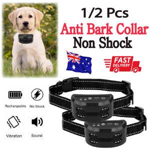 Anti Bark Auto Dog Training Collar Sound & Vibration Stop Barking Rechargeable