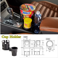 Universal Carbon Fiber Pattern ABS+Rubber Car Cup Holder Small Stuff Storage Box