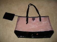 GUESS GIRL Pink/Black Large Tote Bag Purse Shopping Handbag