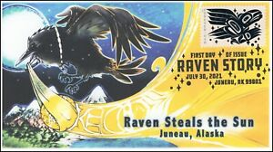 21-186, 2021, Raven Story, First Day Cover, Pictorial Postmark, Juneau AK,