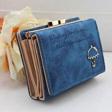 New Women's Matte PU Leather Wallet Button Clutch Purse Lady Short Handbag Bag