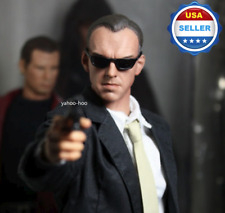 1/6 scale Hugo Weaving head sculpt The Matrix Agent Smith for 12'' figure toy