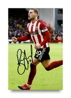 Billy Sharp Signed 6x4 Photo Sheffield United FC England Genuine Autograph + COA