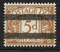 GB 1938 sg D32 5d Postage Due School Training Stamp 2 Horizontal Bars MNH
