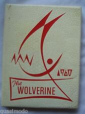1960 SPRINGLAKE HIGH SCHOOL YEARBOOK EARTH, TEXAS  THE WOLVERINE