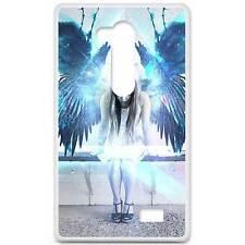 Coque housse étui tpu gel motif angel LG L Fino