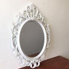 Spiegel Wandspiegel Antik Stil Barock 84x57cm Hängespiegel Flurspiegel Weiß  Neu